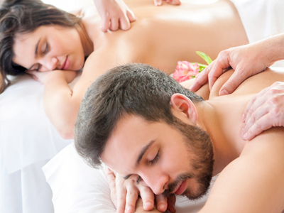 Couple at a Relaxing Massage Session